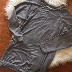 Tops - Emma's Closet Gray Sweatshirt Tunic